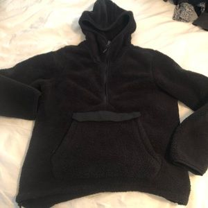 North Face Large fleece Sherpa hooded pullover